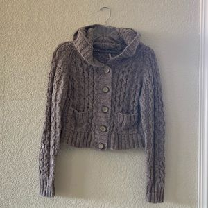 Free People Hooded Sweater sz M